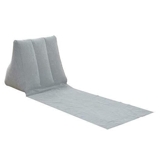 Reuvv Aufblasbare Strandliege Matte Kissen PVC Weich Freizeit Stuhl Sitz für Camping Outdoor The Chill Out Tragbare Reise Aufblasbare Liege mit Keilform Rückenkissen Outdoor