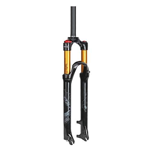 RSTO 26 27.5 29 Pulgadas Montaña Bicicleta Horquilla de Suspensión, Aleación MTB Air Horquillas Amortiguador 1-1/8' Bloqueo Manual Viaje: 100mm Amortiguador (Color : Gray, Size : 27.5 Inch)