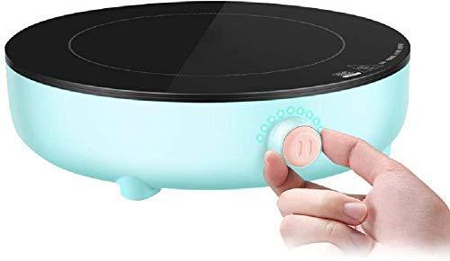 NLRHH Cocina de Inducción, Pequeño Hogar Multifuncional Ahorro de energía Garra de Inducción Mando controlado Panel Microcristalino, Azul, Azul Peng (Color : Blue)