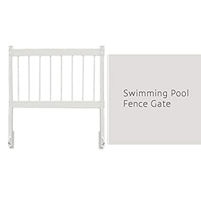 """ECOOPTS 24"""" x 60"""" Vinyl Ground Pool Fence Panel Screen Level Top Guard Above Swimming Pool Safety Fencing Products, White, 8 Pieces"""