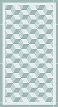 Lovib Alfombra Vinílica Sintasol Cubo   Color Turquesa   40x80 cm   Vinilo PVC   Alfombra Cocina Vinilo   Alfombra Salón Antideslizante Antihongos Ignífuga   Alfombras Grandes   Alfombras PVC