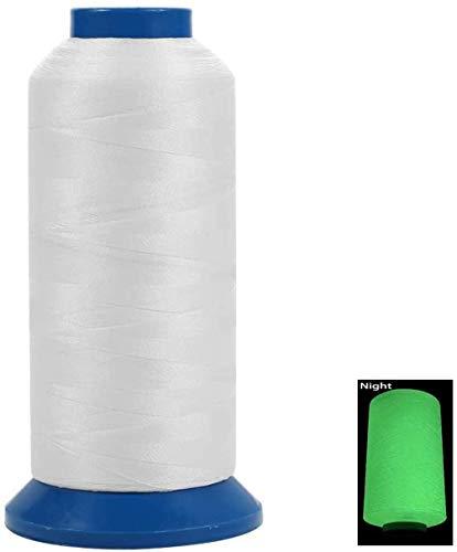 YEHAM 3000Yards / 2700M Glow in The Dark Embroidery Thread (White)