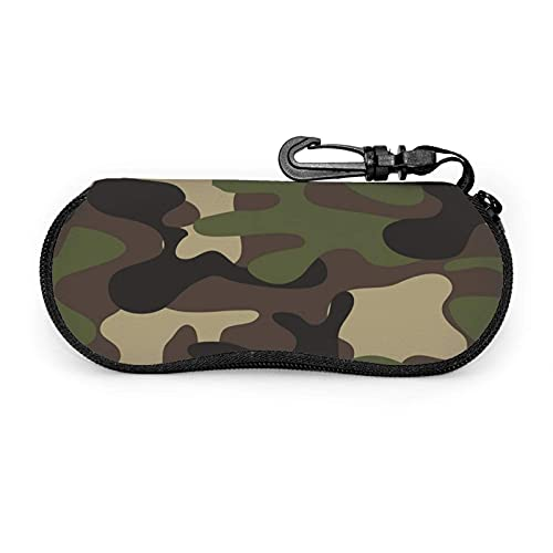 AOOEDM Gafas de sol de camuflaje del ejército Estuche blando Estuche portátil ultraligero para lentes de neopreno