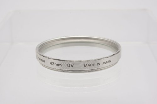 Fujiyama 43mm UV Filter for Canon EOS M with EF-M 22mm 1:2 STM Lens Silver