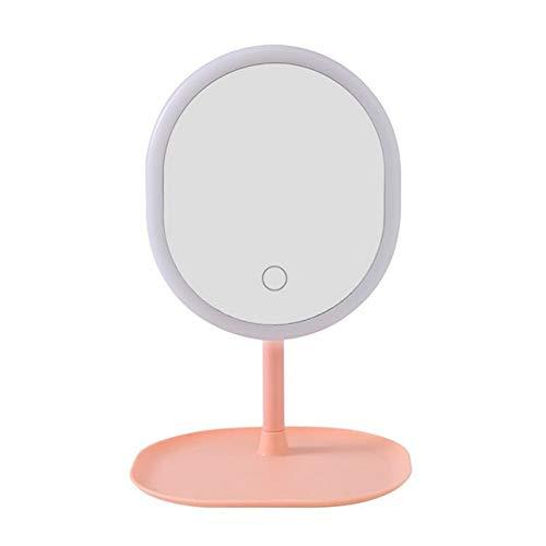 RAQ Make-up spiegel LED Selfie Licht Dimbaar make-up Camera Telefoon Lamp met Tafelstatieven telefoon houder stand