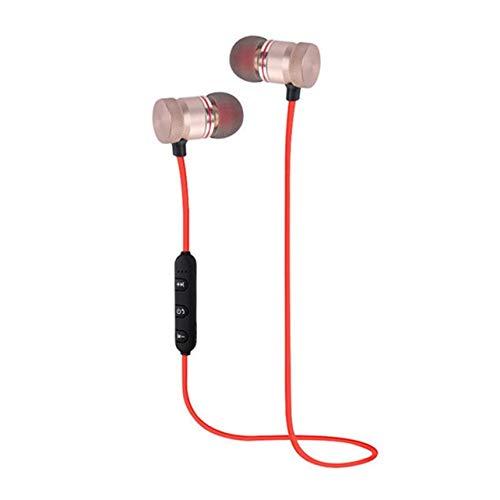 WOSOSYEYO Moda magnéticos Bluetooth inalámbrico Deportes Auriculares Bajos Pesados del Metal Earbuds en la Oreja Auriculares Universal para el teléfono