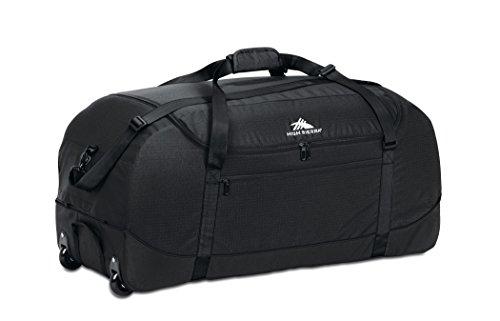 High Sierra Wheeled Duffel Bag with Cinch Sack, Black, 30-Inch