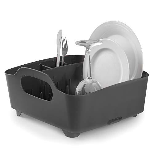 Umbra 330590-582–Escurridor de platos y vasos, 36x32,5x15,5cm, color negro