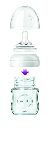 Image of Philips AVENT Natural Glass Bottle, 8 Ounce (Pack of 3)