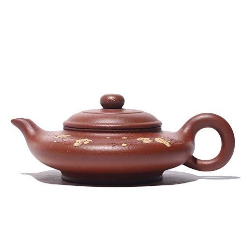 ShiSyan Yixing Tetera té Mitigue El Barro Pendiente Plana Pot Pintado a Mano Tetera Famoso Utensilios