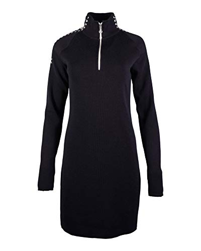 Dale of Norway Damen Geilo Fem Kleid, Black/Off White, Größe S