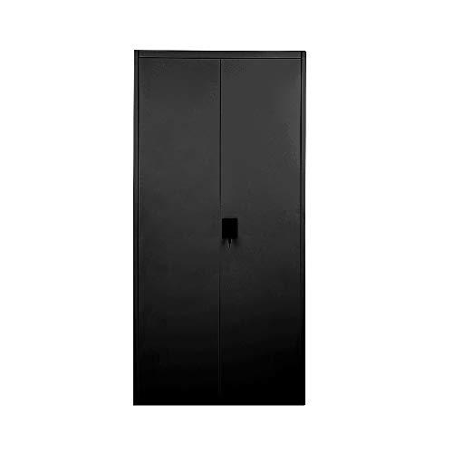 Teteli - Armario de almacenamiento de oficina (metal, con cerradura), 2 puertas, estantes ajustables, metal, 5 Layer