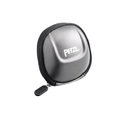 Petzl E93990 Étui poche pour lampes frontales compactes TIKKINA, TIKKA, ZIPKA, ACTIK et TACTIKKA, Noir Argent