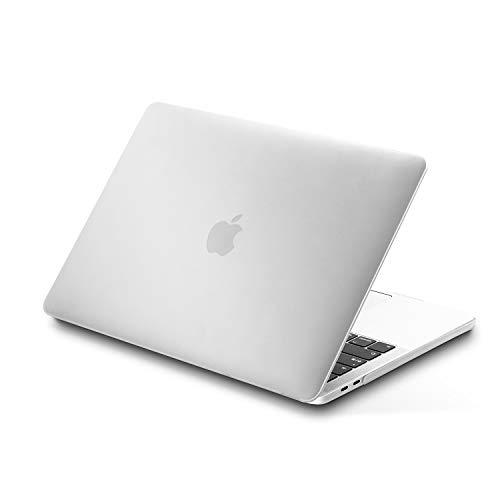 lention Custodia Rigida MacBook PRO (13 Pollici, 2016-2020,2/4 Porte Thunderbolt 3) A1706 / A1708 / A1989, USB-C, Touch Bar, Custodia Protettiva in plastica Rigida Ultra Sottile (Bianco Opaco)