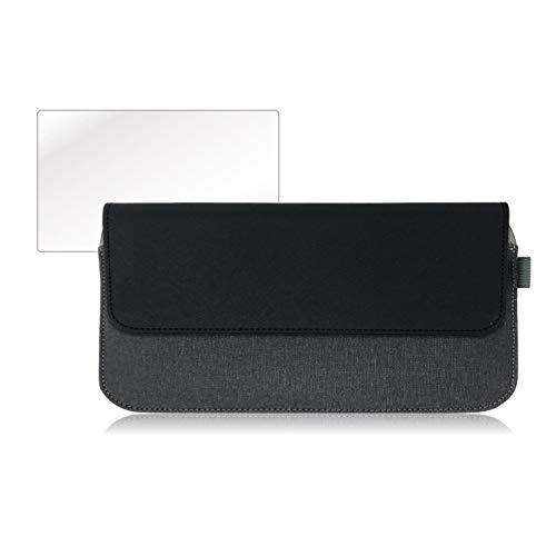 ポメラ DM200 専用 ケース PUレザー 保護 フィルム 付 (ブラック)