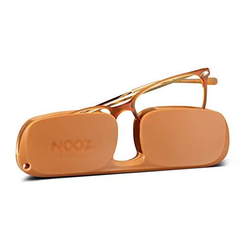 Nooz Gafas de Lectura - Color Honey Corrección +2.00 - Forma Rectangular - Para Hombres y Mujeres - Modelo Bao Colección Essential