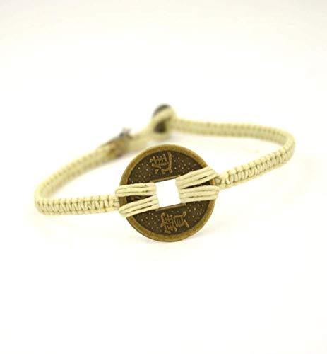 Bracelet de Perles de bénédiction Chanceux Feng Shui Bracelet de Richesse, 8 Pouces Fait à la Main Bonne Chance et prospérité Bracelet Feng Shui pour Hommes - Bracelet de qualité étanche pour