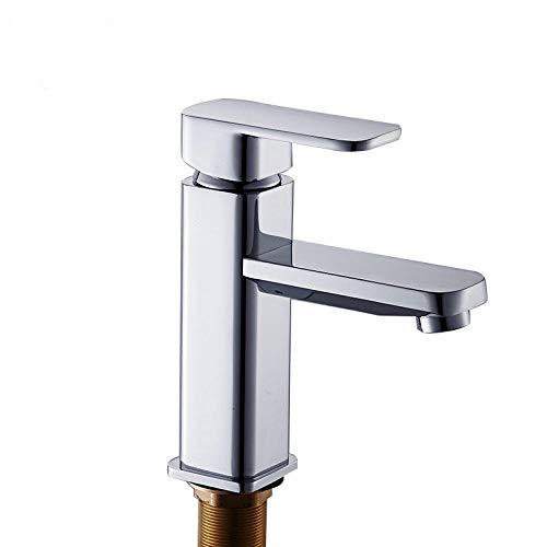 Wastafelkraan, mengkraan, voor wastafels, warm en koudzilver, klassiek, modern, voor badkamer, gepolijst, chroom, eenvoudig te installeren