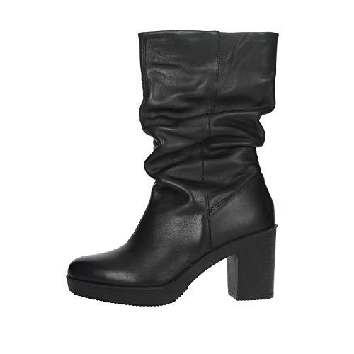 Zapatos de Mujer Botas IMAC en Cuero Negro 405680-1400-011
