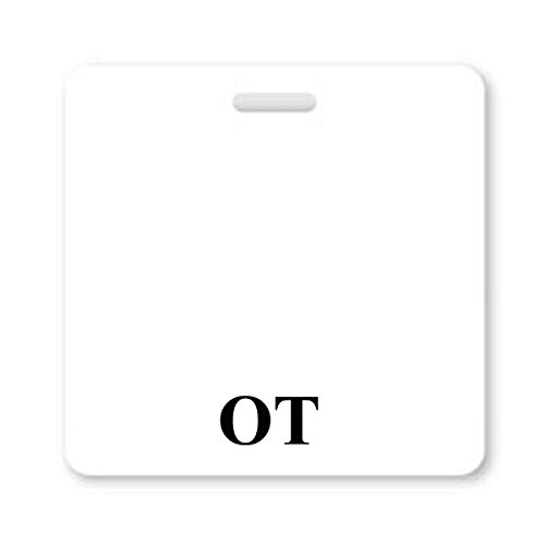 OT Badge Buddy - Heavy Duty Horizontal Badge Buddies for Occupational Therapists - Spill & Tear Proof Cards - 2 Sided USA Printed Quick Role Identifier ID Tag Backer by Specialist ID