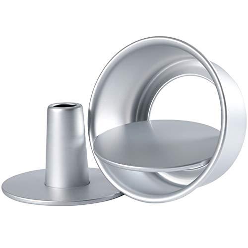JiangM 6/8-Zoll-Aluminiumlegierung Lebensmittelkuchenform, Runde Hohle Kuchenform, Backform Mit Abnehmbarem Boden Für Die Küche