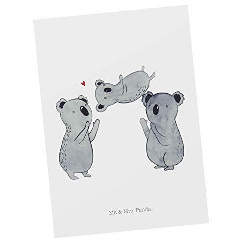 Mr. & Mrs. Panda Carta Regalo, Biglietto d'auguri, Cartolina Postale Koala Celebrate Sich - Colore Bianco