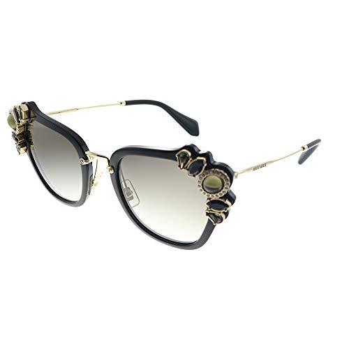 Miu Miu Damen 0Mu03Ss 1Ab0A7 51 Sonnenbrille, Schwarz (Black/Gradient)