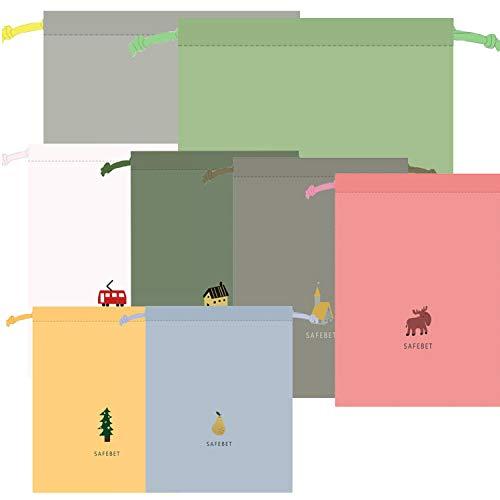 8 Stück packbeutel Reise,packbeutel Set,wasserdichte Beutel,packsack Tunnelzug,Organizer Beutel,Beutel Rucksack,packbeutel Rucksack,packbeutel für Koffer Kosmetik,Organizer Reisetasche 8 Pack (C)