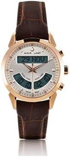 ساعة الفجر للرجال انالوج-رقمي بسوار من الجلد WA-10B