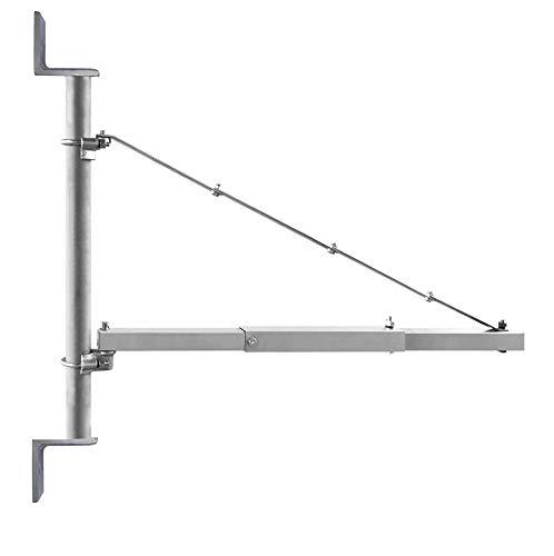 CROSSFER Schwenkarm Wandhalterung 300/600 Kg Wandbefestigungs-Paket für Elektrische Seilwinde Flaschenzug Elektroseilzug