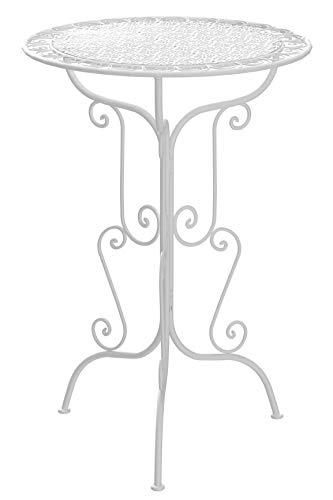 m unich sales Gartenstehtisch Vintage Rialto high, weiß, Durchmesser Ø 70 cm, Höhe 105 cm