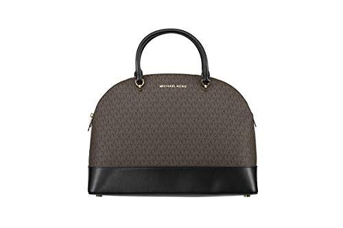 Michael Kors Emmy Dome Satchel XL - Bolso bandolera para mujer, color marrón