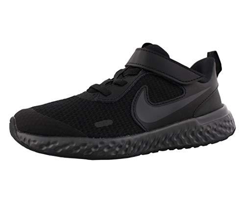 Nike Revolution 5 (PSV), Scarpe da Corsa, Black/Black-Anthracite, 34 EU