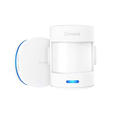Govee Motion Sensor Alarm Upgraded, 328Ft Motion Detector for Home Security with 36 Tunes and 5 Adjustable Volumes, Driveway Alarm with LED Indicators, 2 PIR Motion Sensors and 1 Receiver