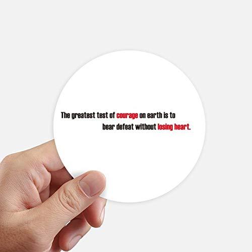 DIYthinker Quote De grootste test is om te verslaan ronde Stickers 10 Cm muur koffer Laptop Motobike Decal 8 Stks