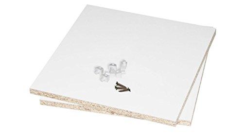 Rückwand für Kallax Regal / Kallax Fach schließen u. stabilisieren / 2 Stück für 2 Kallax Regalfächer (inkl. Teile f. die einfache Montage) Regalrückwand 33,5 x 33,5 cm beidseitig weiß