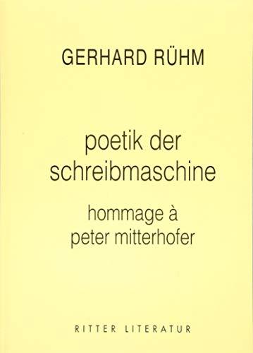 poetik der schreibmaschine: hommage a peter mitterhofer