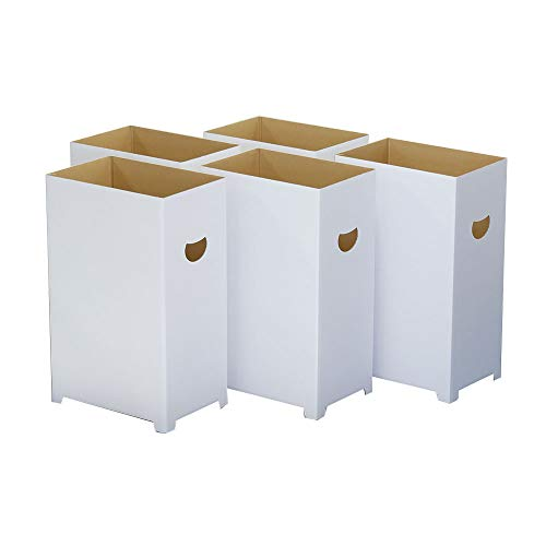 ダンボる ダンボール ゴミ箱 5個セット 45リットル袋対応 白 無地 段ボール箱 DG04-0005