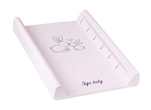 Matelas plan à langer luxe pour bébé 50 X 70 cm, Motif:Lapins - rose