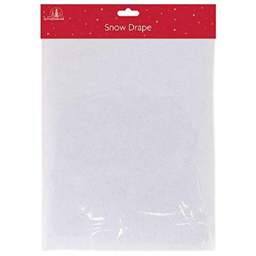 Tallon Christmas - Snow Blanket, Snow Drape with Silver Glitter, 91 x 114 cm