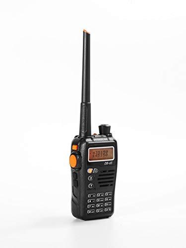 Dynascan DB-65 - Walkie de Doble Banda radioaficionado (144-146 MHz/430-440 MHz, batería 1300 mAh) Color Negro