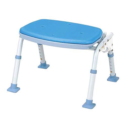 L-WSWS - Taburete de ducha para personas mayores (color: azul, tamaño: 43,5 x 30,5 x 45 cm)