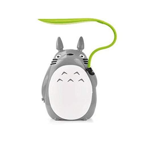 WWWL Lámpara de escritorio de dibujos animados Totoro luces de noche USB de carga creativa animal LED noche luz lámpara de mesa para niños regalo decoración de habitación Whitebelly
