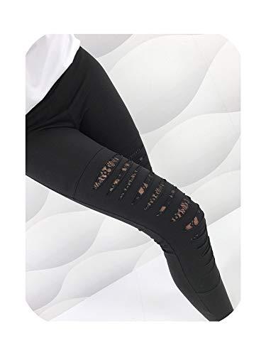 Groene Plaid Zomer Gaten Leggings Vrouwen Leggings Vrouwen Hoge Taille Leggings Kant Decoratie Leggins