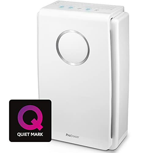 Pro Breeze Ultra-Powerful Air Purifier for Home (Large Rooms) with True HEPA Filter - Removes 99.97% of Pollen, Hay Fever Allergy, Smoke, Dust with 4H Timer & Negative Ion Generator