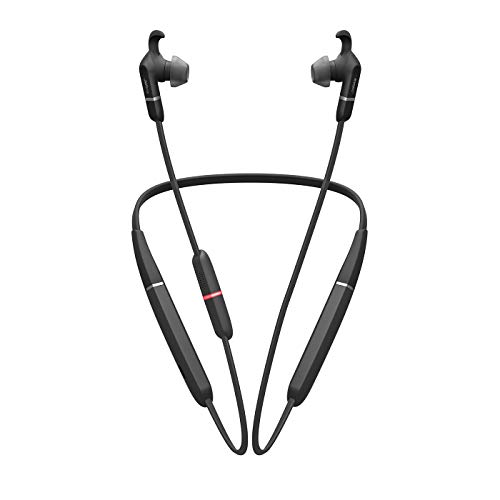 Jabra Elite 65e – Unified Communications Active Noise Cancellation Bluetooth Kopfhörer mit Nackenbügel zum kabellosen Telefonieren und Musik hören – Mit Vibrationsalarm – schwarz