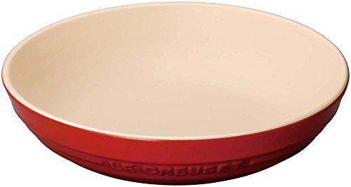 ル・クルーゼ(Le Creuset)  深皿 ラウンド・ディッシュ 20 cm チェリーレッド 耐熱 耐冷 電子レンジ オーブ...