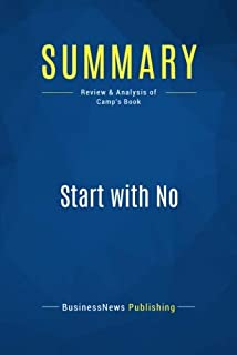 Summary: Start with No: Review and Analysis of Camp's Book