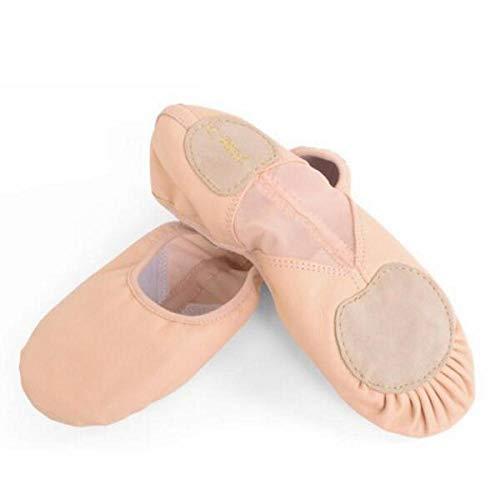 Echte Leder Ballett Tanzschuhe Professionelle weiche Mädchen/Frauen Straight Breathable Split Sole Dancing Schuhe-Ballettschuhe aus Leder_8