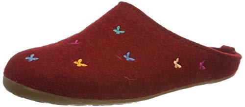 Haflinger Damen Everest Farfalline Pantoffeln, Rot (Paprika 42), 36 EU